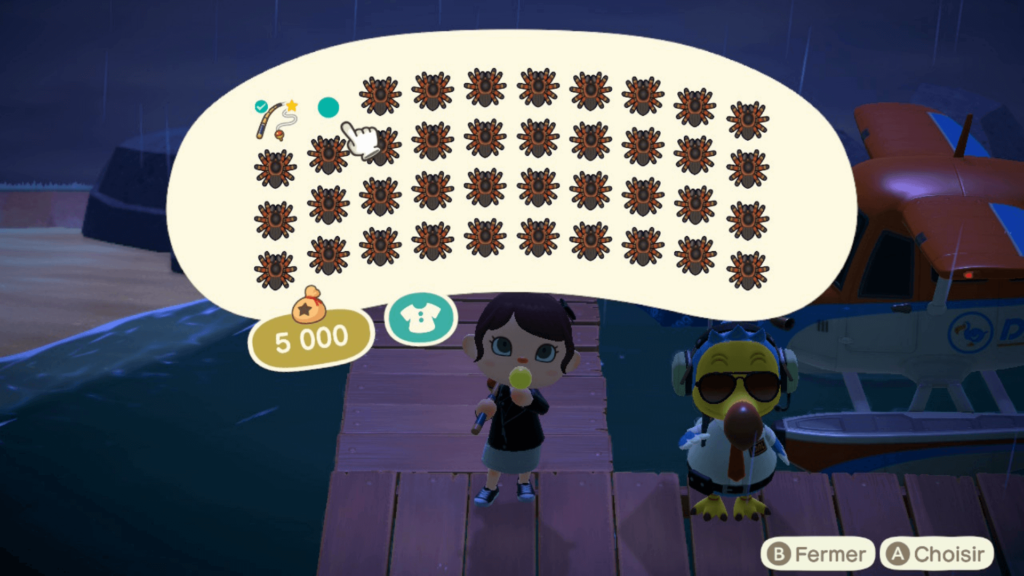 Inventaire rempli de tarenlues