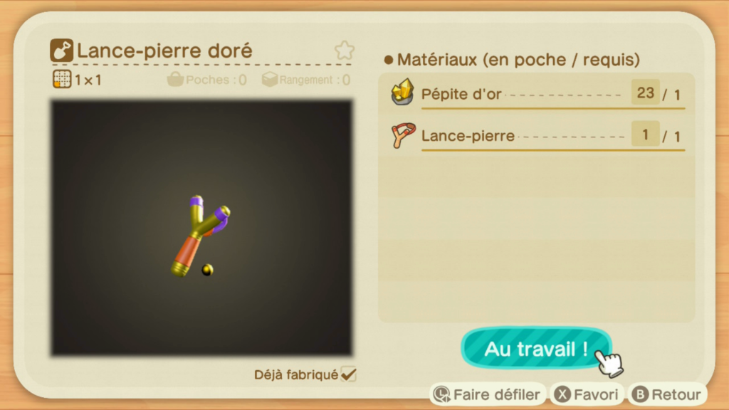 Avoir les outils en or sur Animal Crossing New Horizons