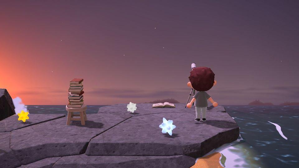 Pluies d'étoiles filantes et fragments d'étoiles sur Animal Crossing New Horizons