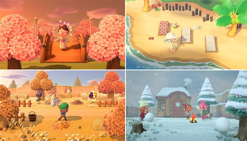 L'Été dans Animal Crossing New Horizons - Nook Island