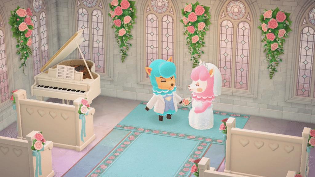 La saison des mariages sur Animal Crossing New Horizons