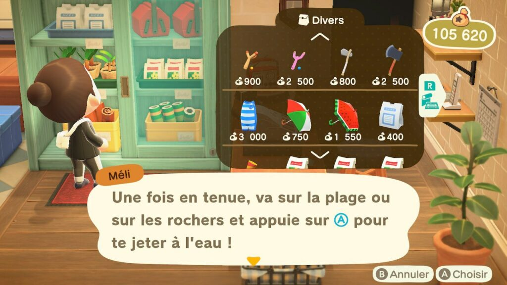 Animal Crossing Plongée