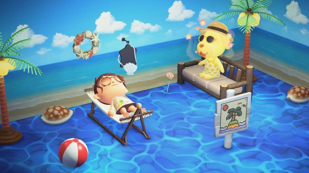 L'Été dans Animal Crossing New Horizons - Nook Island