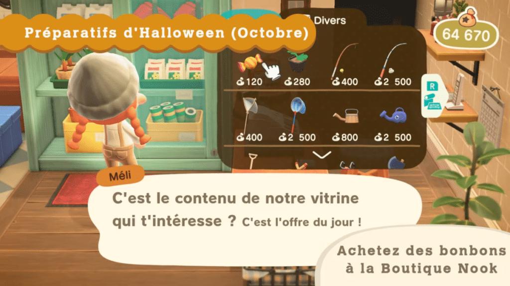 Mise à jour d'Halloween sur Animal Crossing New Horizons