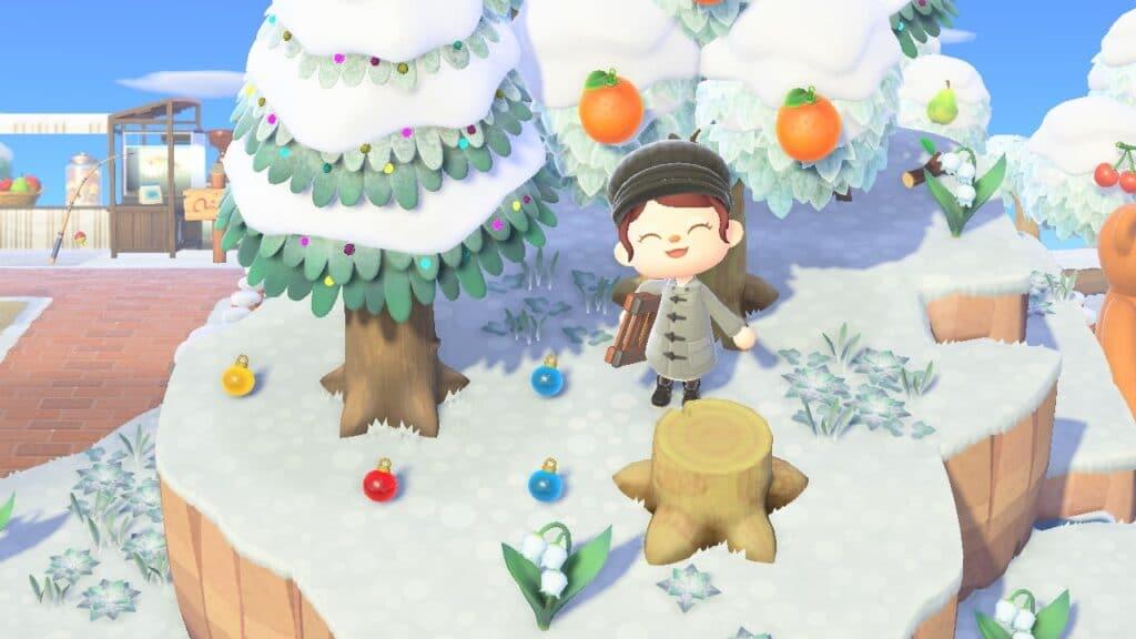 L'hiver dans Animal Crossing New Horizons - Nook Island