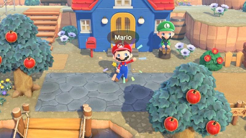 Mario débarque dans Animal Crossing New Horizons