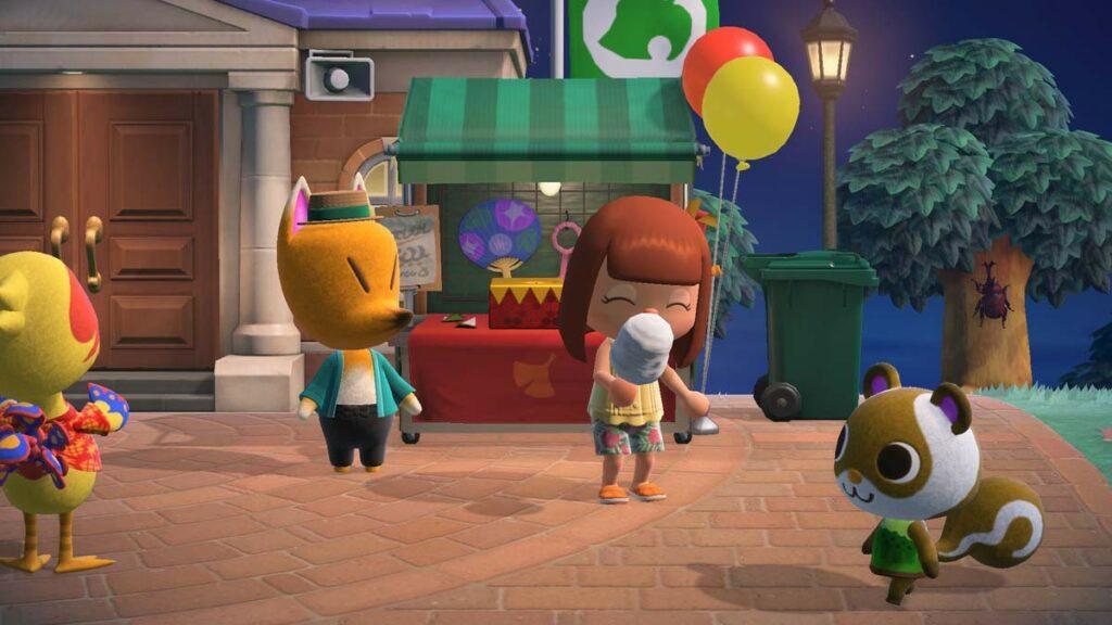 Les feux d'artifice du mois d'août dans Animal Crossing